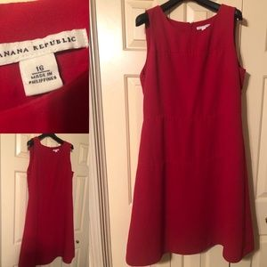 Banana Republic Fit and Flare Red Dress